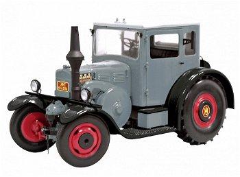 Modelltraktor:Lanz Eilbulldog mit Kabine, grau(Schuco, 1:18)