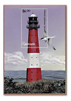 Lighthouses - block mint never hinged, Grenada