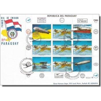 50. Jahrestag erster direkter Postfluges der Lufthansa nach Südamerika - Ersttagsbrief, Katalog-Nr.