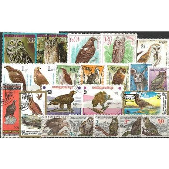 Raubvögel - 50 verschiedene Briefmarken