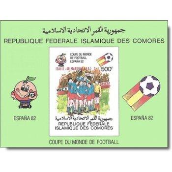 Gewinner der Fußball-Weltmeisterschaft 1982, Spanien – Briefmarken-Block postfrisch, ungezähnt, Kata