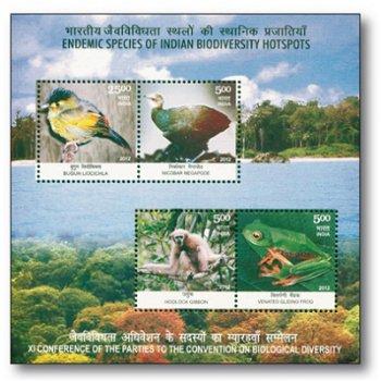 Tierwelt - Briefmarken-Block postfrisch, Indien