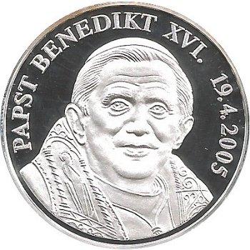 """Jubiläumsprägung zur Wahl von """"Papst Benedikt XVI."""""""