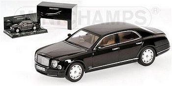 Modellauto:Bentley Mulsanne von 2010, schwarz(Minichamps, 1:43)