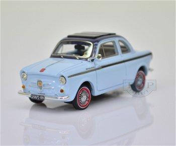 Modellauto:NSU-Fiat Weinsberg von 1960, hell-dunkelblau(Premium X, 1:43)