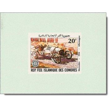 75 Jahre Großer Preis von Frankreich - 5 Luxusblocks postfrisch, Katalog-Nr. 646-650, Komoren