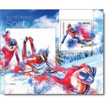 Winterspiele 2014: Sportarten - Briefmarken-Block postfrisch, St. Thomas