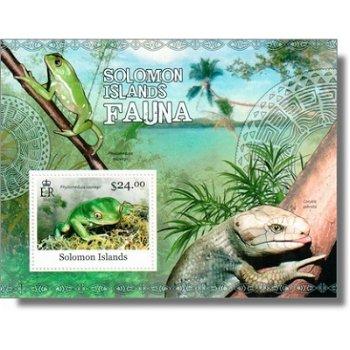 Frösche - Briefmarken-Block postfrisch, Salomon-Inseln