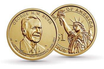 George Bush - 41. Präsidentendollar, 1 Dollar, USA