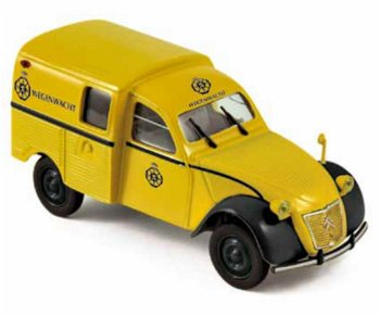 Modellauto.Citroen 2 CV AZU - Wegenwacht - von 1959(Norev, 1:43)