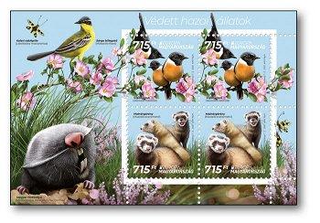 Europa 2021: Gefährdete nationale Wildtiere - Briefmarken-Block postfrisch, Ungarn