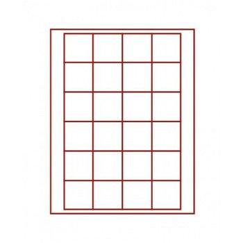 LINDNER Münzenbox, quadratische Vertiefungen 42mm, LI 2724, Rauchglas