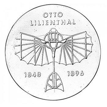 5-Mark-Münze 1973, 125. Geburtstag Otto Lilienthal, DDR