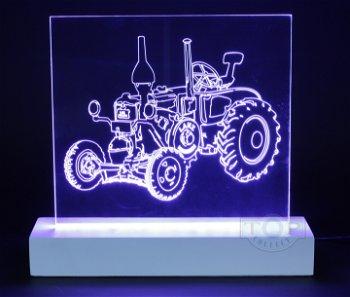 Exklusives LED-Lichtkunstwerk:Lanz Ackerluft Bulldog