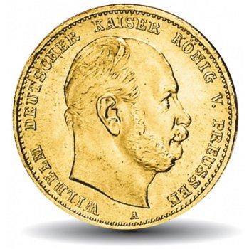 10 Mark Goldmünze Wilhelm I.,Katalognummer 245, Königreich Preußen