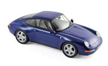 Modellauto:Porsche 911 von 1994, metallic-blau(Norev, 1:18)