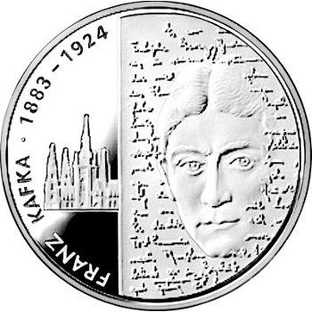 125. Geburtstag Franz Kafka, 10-Euro-Silbermünze 2008, Polierte Platte