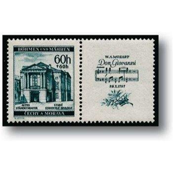 150. Geb. Mozart - 4 Briefmarken postfrisch, Kat.-Nr. 79-82 Zf, Böhmen+Mähren