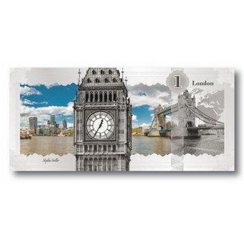 London Silberbanknote, 1 Dollar Silber 2017, prooflike, Cook Inseln