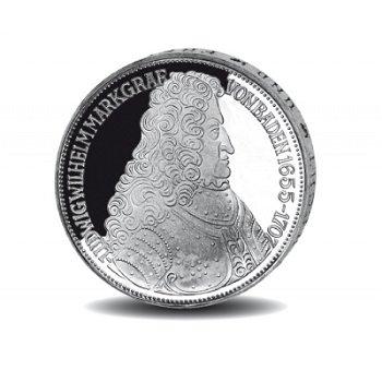 """5-DM-Silbermünze """"300. Geburtstag Markgraf Ludwig von Baden"""", vorzügliche Erhaltung"""