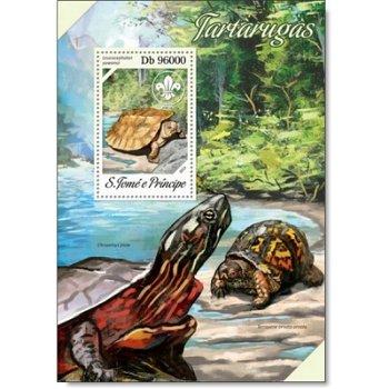 Schildkröten - Briefmarken-Block postfrisch, St. Thomas