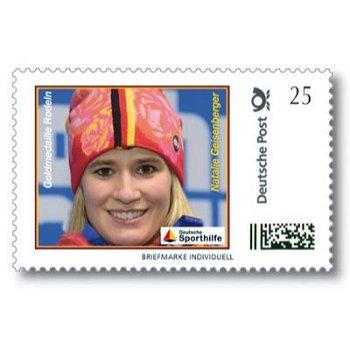 Winterspiele 2014, Rodeln, Natalie Geisenberger - Marke Individuell postfrisch, Deutschland