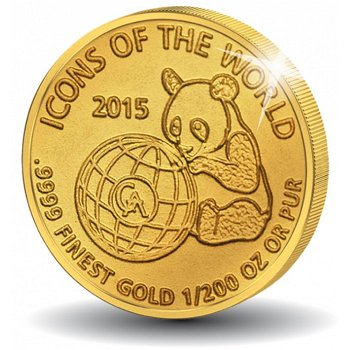 Icons of the world: Der Panda, Goldmünze, Ruanda