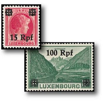 Hindenburg medallion, supplement - 16 postage stamps mint never hinged, catalog no. 17-32, German occupation Lu