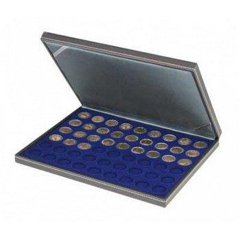 Nera Münzkassette M für 2 Euro Münzen, Münzeinlage blau, Lindner 2364-2154ME