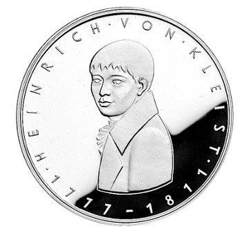 """5-DM-Silbermünze """"200. Geburtstag Heinrich von Kleist"""", Stempelglanz"""