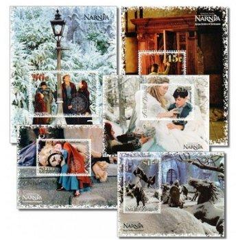 Der König von Narnia/Walt Disney - 5 Briefmarken-Blocks postfrisch, Block 191-195, Neuseeland