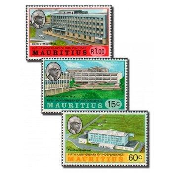 5 Jahre Unabhängigkeit - 3 Briefmarken postfrisch, Katalog-Nr. 391-393, Mauritius