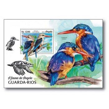 Vögel - Block postfrisch, Angola