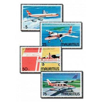 Fluggesellschaft Air Mauritius - 4 Briefmarken postfrisch, Katalog-Nr. 432-435, Mauritius