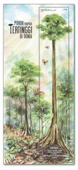 Der größte Baum der Welt - Briefmarken-Block postfrisch, Malaysia