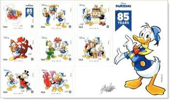 85. Geburtstag Donald Duck - Folienblatt postfrisch, Italien