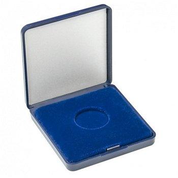 Münz-Etui mit Velourseinlage für 2 Euro Münzen ohne Kapseln, Lindner 2029-026