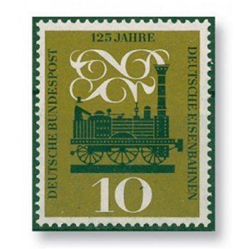125 years of the German Railway - catalog no. 345 mint never hinged, federal government