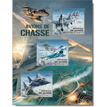 Kampfflugzeuge - Briefmarken-Block postfrisch, Guinea