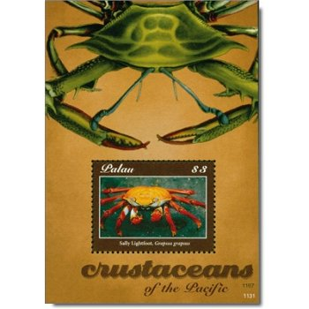 Krebse - Briefmarken-Block postfrisch, Palau