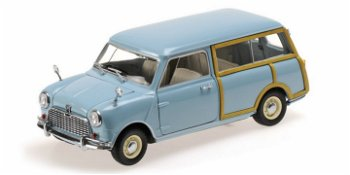 Modellauto:Austin Mini Countryman, blau(Kyosho, 1:18)