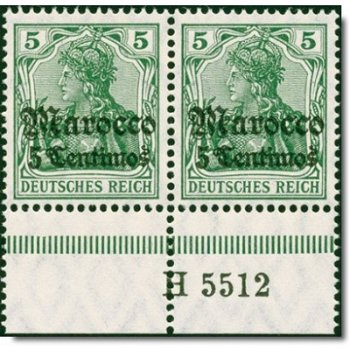 Deutsche Post Morocco - Catalog No. 35 HAN AH 5512, horizontal pair, mint never hinged