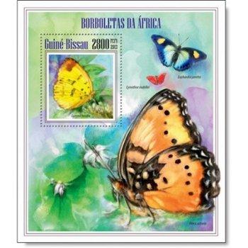 Schmetterlinge - Briefmarken-Block postfrisch, Guinea-Bissau