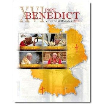 Papst Benedikt XVI. besucht Deutschland - Briefmarken-Block postfrisch, St. Vincent und Grenadinen