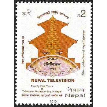 25 Jahre Fernsehen in Nepal – Briefmarke postfrisch, Katalog-Nr. 997, Nepal