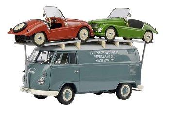 Modellauto:VW T1 - Kleinschnittger -mit 2 Kleinschnittger F 125(Schuco/Exklusiv, 1:18)