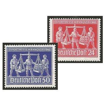 Exportmesse Hannover - 2 Briefmarken postfrisch, Katalog-Nr. 969-970, Alliierte Besetzung