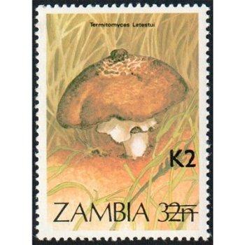 Pilze - Briefmarke mit lokalem Aufdruck, Katalog-Nr. 562, Sambia