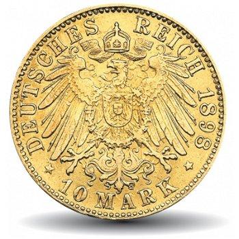 10 Mark Goldmünze, Der große Adler, Freie und Hansestadt Hamburg, Katalog-Nr. 211