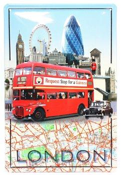 Blechschild:London(20 x 30 cm)